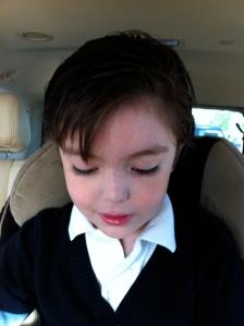 My little boy going to school...