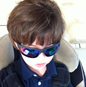 Joe Cool after eye dilation.
